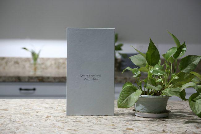4 pages sample folder for quartz ceramic acrylic sample